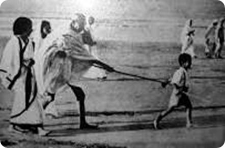 गांधी जी बच्चे के साथ