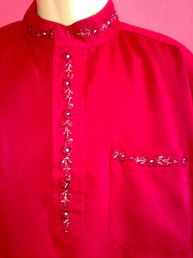 Monah De' Collection ~ 0176595814Contoh leher Bersulam.Baju Melayu