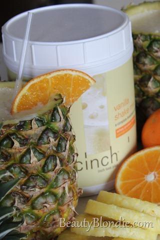Shaklee Vanilla Whey Protein with Fresh Pineapple, Fresh Oranges, and Fresh Bananas
