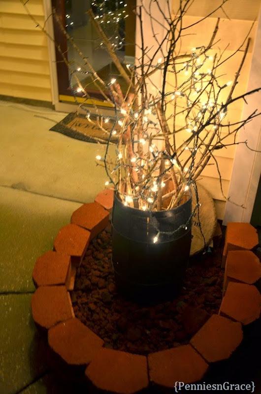 Barrel of sticks for Christmas