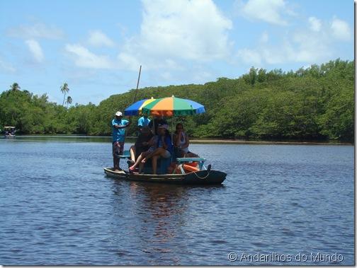 Jangada no Rio Tatuamunha Rota Ecológica de Alagoas
