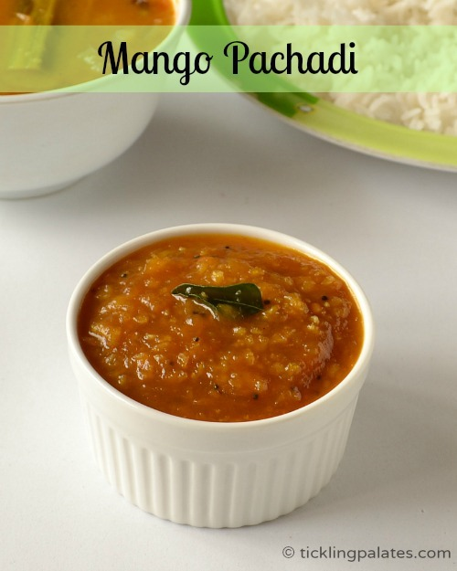 Raw Mango Pachadi for Tamil New Year