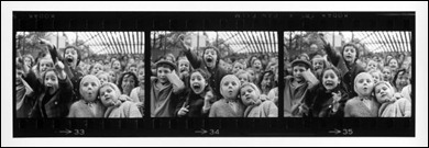 Three Frames of Children at Puppet Theater, Paris, 1963