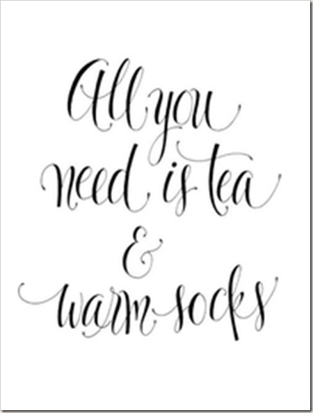 tea and warm socks