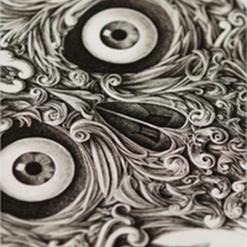 Dibujo de calavera impresionante