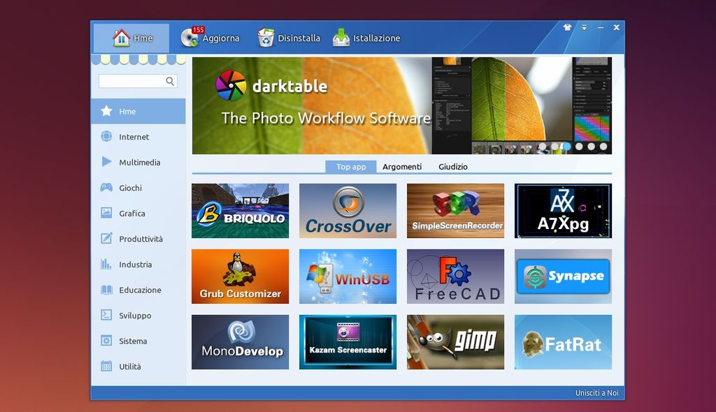 Deepin Software Center 3.2 in Ubuntu 14.04 Trusty
