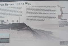 Cape COd 3 sisters lighthouse sign