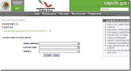 capufe traza tu ruta en español gratis en linea