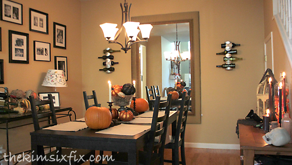 Halloween house tour the kim six fix for Dining room no windows