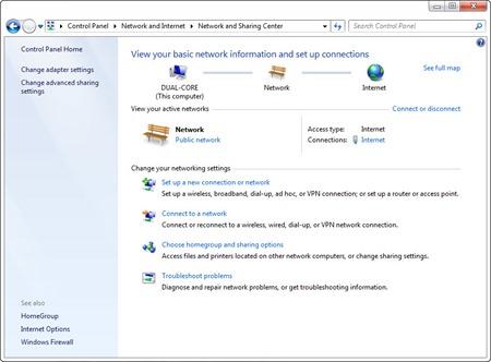 Daftar koneksi sebelum kabel LAN dicolokkan