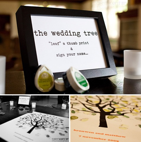 Wedding Gift For Guest Diy : ... Imaginings & Silly Things: DIY Wedding Gifts #1: Thumbprint Guest Tree
