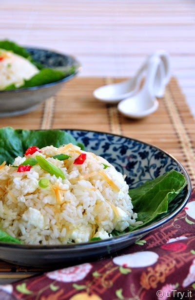 Dried Scallop Egg White Fried Rice (瑤柱蛋白炒飯)   http://uTry.it