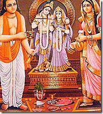 [Worship of Radha and Krishna]