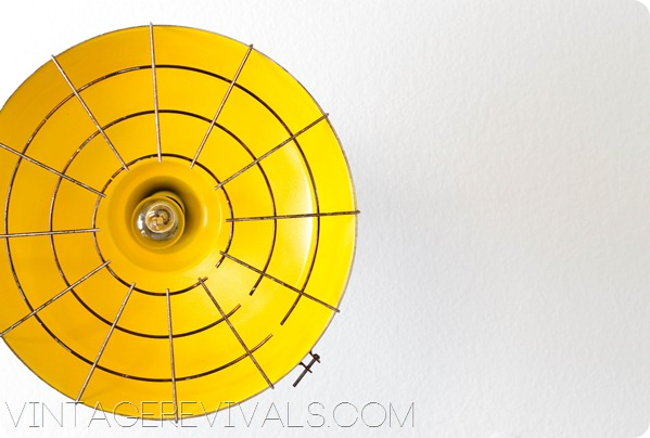 Industrial Yellow Light Fixture vintagerevivals.com