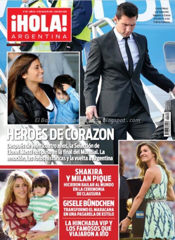 La seleccion argentina en revista hola argentina for Revistas de chismes del espectaculo