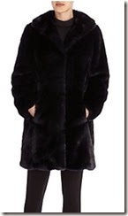 Coast Midnight Blue Faux Fur Coat
