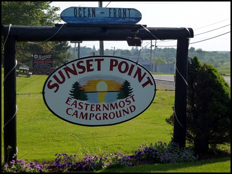10 - Lubec, Sunset Point RV Park Sign