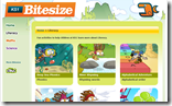 Bitesize – This UK based website has fabulous reading games and lessons on a variety of topic.  The KeyStage 1 site has lessons on phonics, spelling, alphabetical order, and rhyming words.  The KeyStage 2 site has lessons on deductions, poetry, dictionary and finding information.