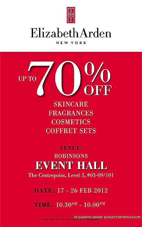 Elizabeth Arden SALE skincare, fragrances cosmetics coffret set Prevage Ceramide Gold Red Door 8 hour  Robinsons Centrepoint