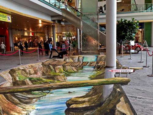 3D landscape street painting