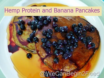 Hemp Protein and Banana Pancakes