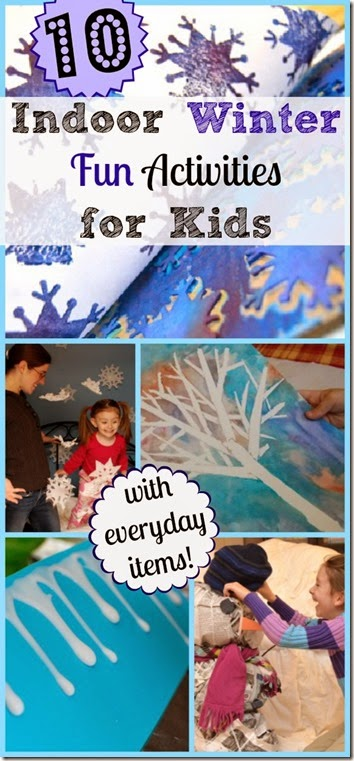 10 FUN indoor winter activities for kids #winter #kidsactivities #play