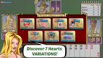 Screenshot of Championship Hearts Card Game