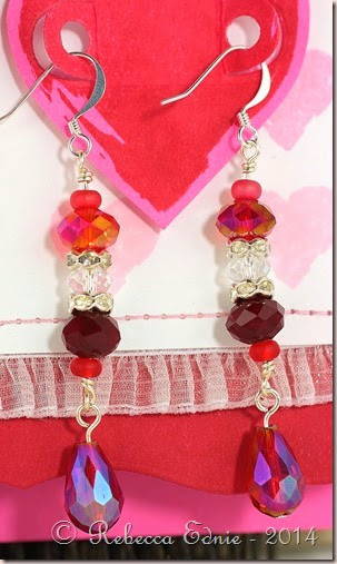 rows of hearts earrings