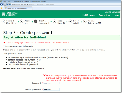 password-hmrc