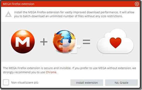 MEGA estensione ufficiale per Firefox