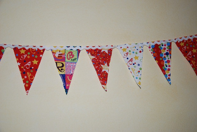 Birthday Bunting detail
