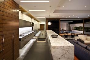 Salon-moderno-cocina-integrada