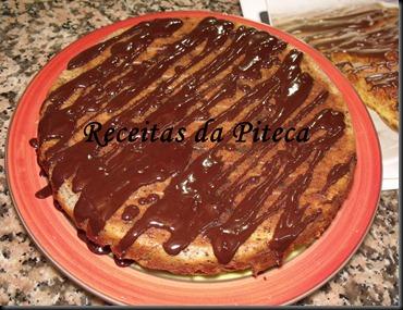 Tarte de queijo e chocolate