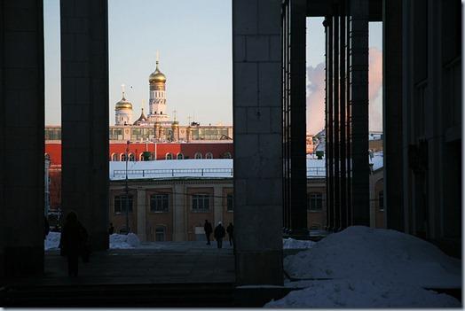 Vista do Kremlin à partir da Biblioteca