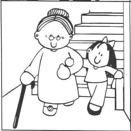Nios ayudando a viejitos para dibujar  Imagui