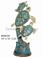 Sea Turtle Trio with Special Patina