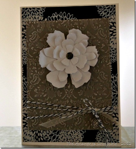 Damask Card Black