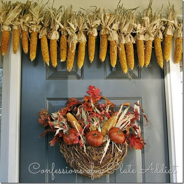 CONFESSIONS OF A PLATE ADDICT Fall Basket and Corn Garland