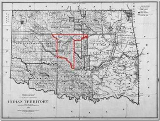Oklahome Land Rush Map