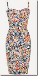 Oasis Rose Print Bandeau Dress
