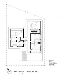 plano-segunda-planta-casa-Travertine-Wallflower-Architecture-Design