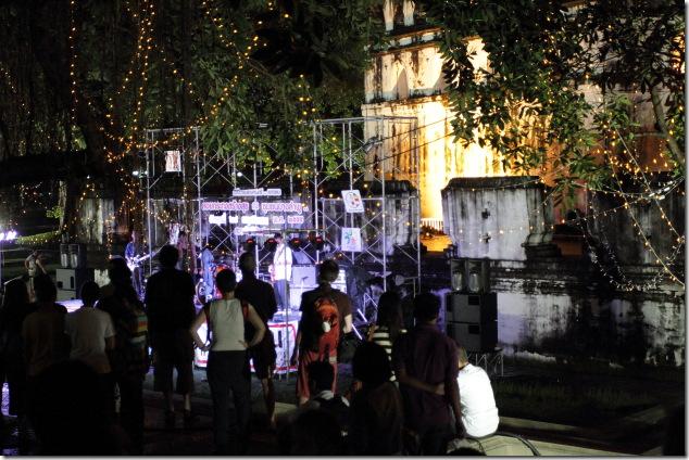 Live Music Band during Loi Krathong Festival