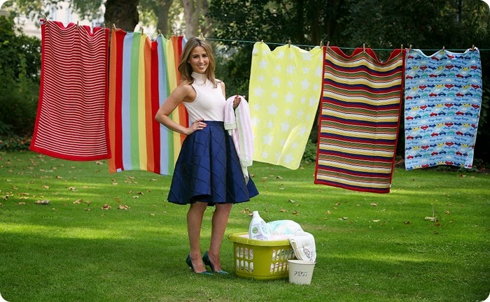 "EDITORIAL USE ONLY Rachel Stevens, a mum of two and new ambassador of Dettol Anti-bacterial Laundry Cleanser, launches the Dettol Baby Blanket Donation campaign in central London, by donating the first blanket to the cause. PRESS ASSOCIATION Photo. Picture date: Tuesday September 23, 2014. Dettol is encouraging parents across the UK to ""keep the memories, not the bacteria"" - @DettolBlanket #sharethememories - by donating a blanket via Freepost and sharing their special recollections and photographs of their babies' blanket on social media.  Once collected, the baby blankets will be hygienically washed with Dettol Anti-bacterial Laundry Cleanser before being re-distributed by Dettol to families in need. For more information visit <www.dettol.co.uk/donate> Photo should read: Geoff Caddick/PA<br />"