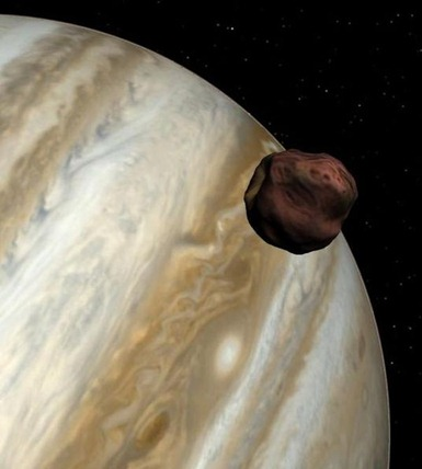 ilustração de Júpiter e Almateia