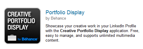 linkedin behance portfolio