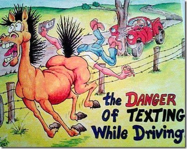 danger of texting while driving