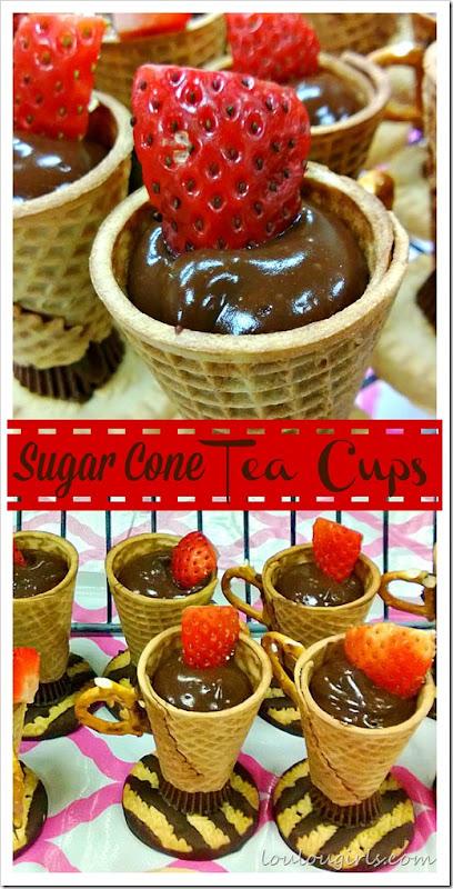 sugar cone tea cups