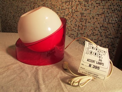 CN Burman red and white eyeball lamp with label