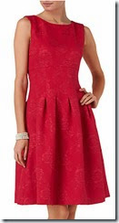 Phase Eight Red Jacquard Dress