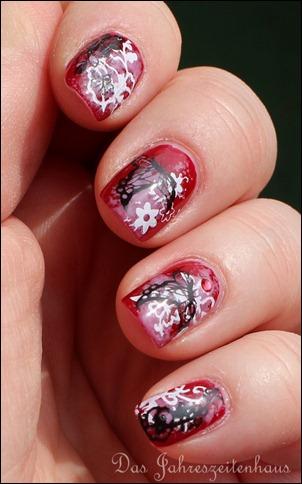 Floral Grunge Nails 6
